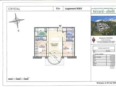 APPARTEMENT T3 CABINE NEUF A VENDRE - MONTGENEVRE VILLAGE - 72,43 m2 - 463552 €
