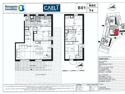 Type 4 Duplex A VENDRE - LE MONETIER LES BAINS - 99 m2 - 604400 €