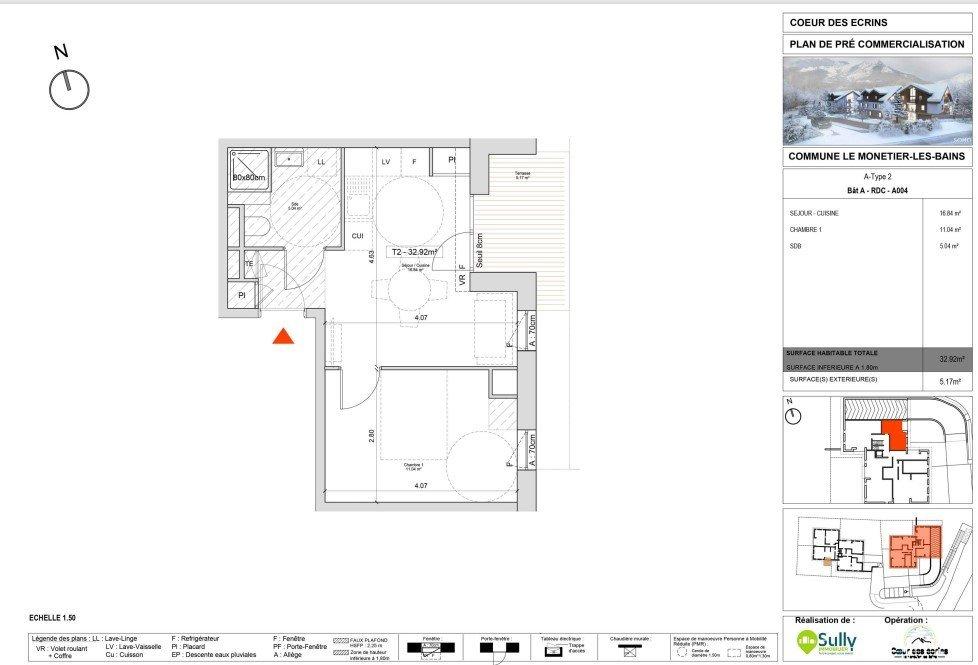 APPARTEMENT T2 NEUF A VENDRE - LE MONETIER LES BAINS - 31,85 m2 - 190000 €